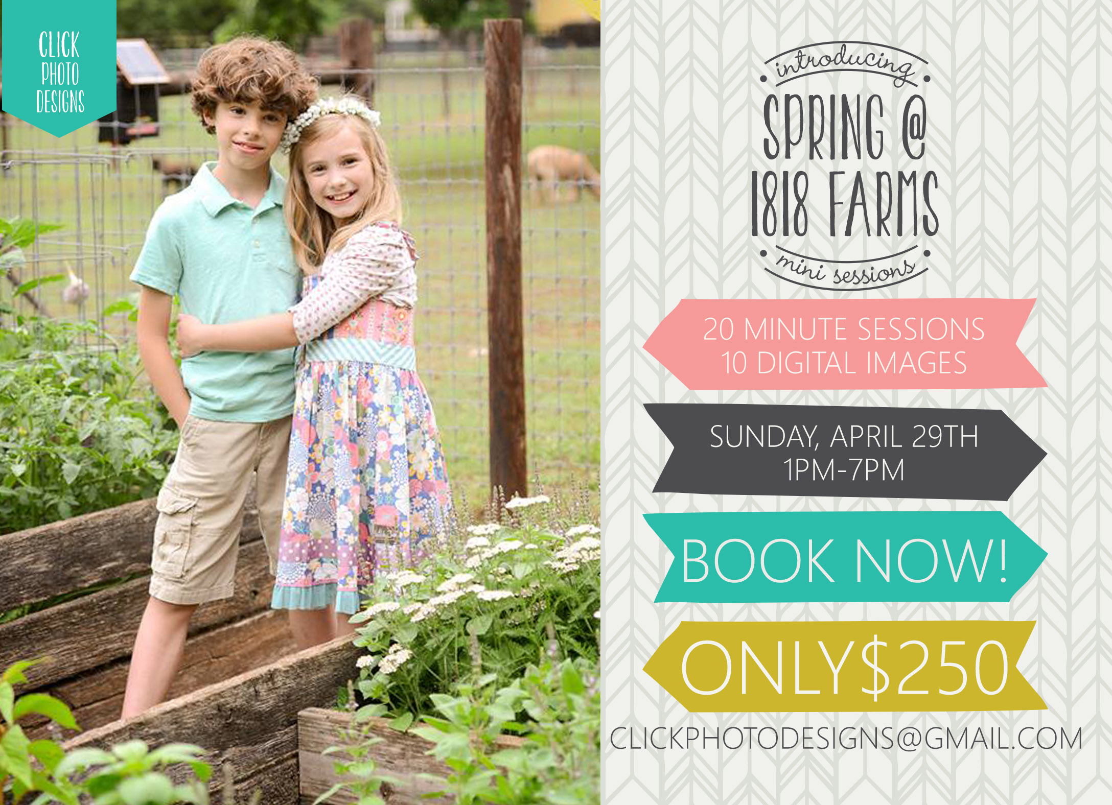 Spring MiniSessions at 1818 Farms