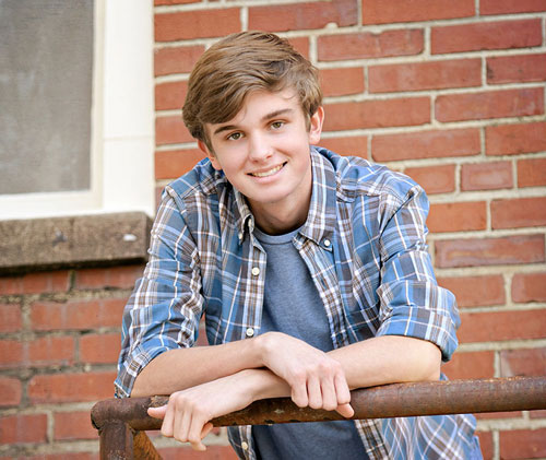 Guys Senior Pictures on Rustic Stairs in Madison, AL
