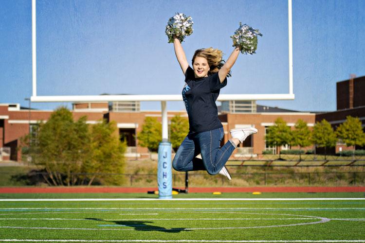 James Clemons Cheerleader Senior Pictures in Madison, AL